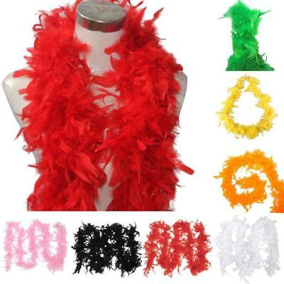 Fancy Dress Feather Boa Burlesque Showgirl Hen Night Festival Ornamental Scarf