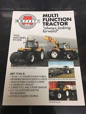 Ford 7840 Ford 7740 / New Holland 40 Series. Moffett Mft Tractor Sales Brochure