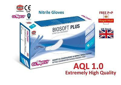 Rays Glovely AQL 1.0 LATEX NITRILE VINYL LATEX FREE Disposable GLOVES Grip