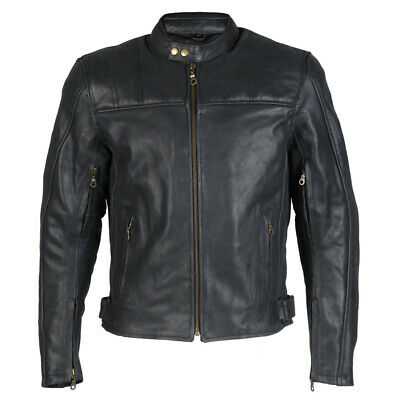 Distressed Black Fine Quality Leather Designer Motorcycle / Motorcycle Jacket