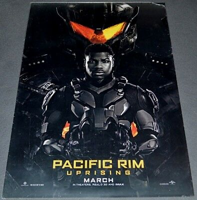 PACIFIC RIM: UPRISING 2017 ORIGINAL DOUBLE-SIDED 27x40 ADVANCE MOVIE POSTER!