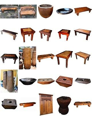 Whole Collection of TEAK Indonesian Antiques and Furniture