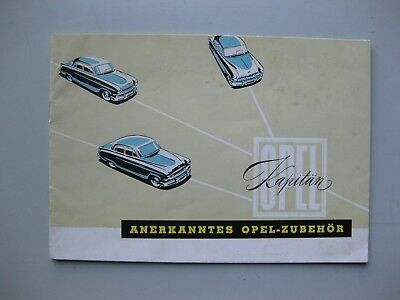 Opel Kapitän Zubehör Accessories brochure Prospekt German Deutsch 1953 20 pages
