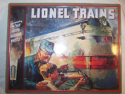 "Halmark LIONEL TRAIN - ""Lionel 1935 Catalog Cover Tin 11""x14""  NEW"