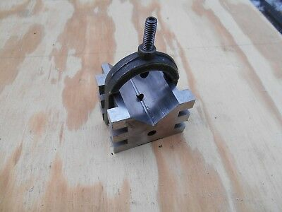 """Machinist v block with clamp 2 1/2"""" x 2"""" x 2"""""""