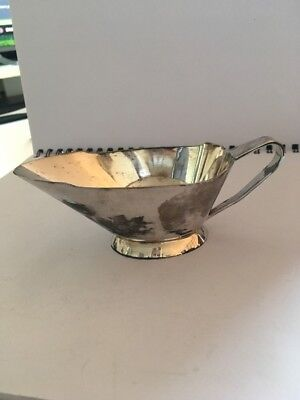Art Deco Style ~ SILVER Plated JUG ~ Sauce Boat c1950 W.N Greenwood & Son