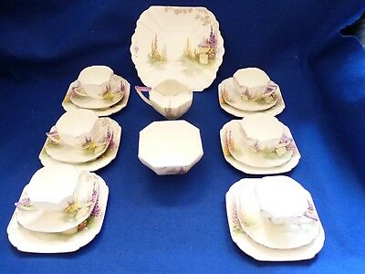 Shelley China 21pc teaset Garden Urn 11617 Queen Anne shape – Rare