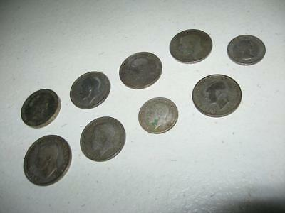 Mix Lot of Great Britain Coins from 1920 to 1996