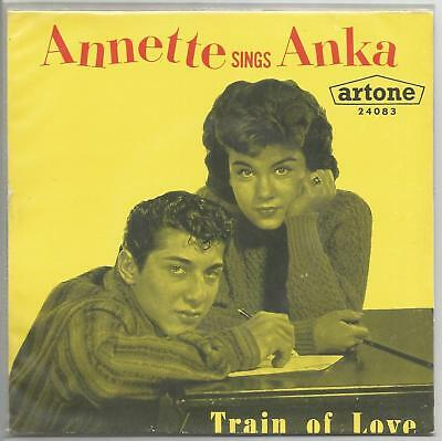"""ANNETTE sings ANKA train of love / who's the girl 7"""" 45 PS"""