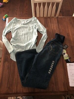 Motherhood Maternity Jeans Size M Long Sleeve Liz Lange Size M Outfit