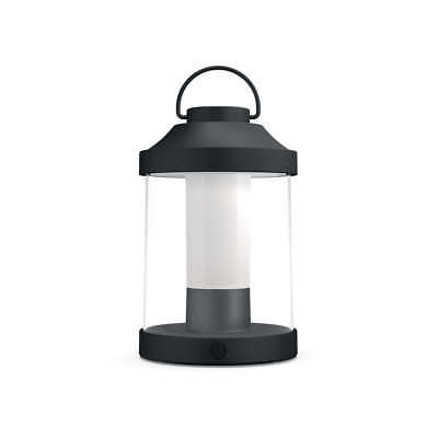 Lampada Da Tavolo Led Philips Mygarden Abelia Nero Art 1736030P0 Ip44 Portatile