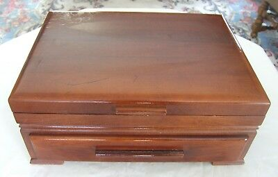 An Antique Mahogany Silverware Chest With Drawer Approved By Oneida!