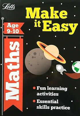 Maths Make It Easy Age 9-10 Letts Fun Learning Activities KS2 Childrens Book New