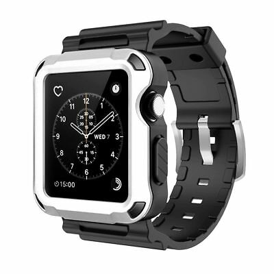 info for 465b5 5431c APPLE WATCH SERIES 3 Bumber Rugged Armor Protective Tough Case Bands 42mm  No Tax