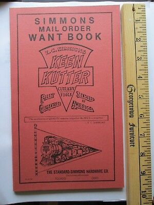 Keen Kutter Hardware Mail Order Want Book ---Simmons Hardware
