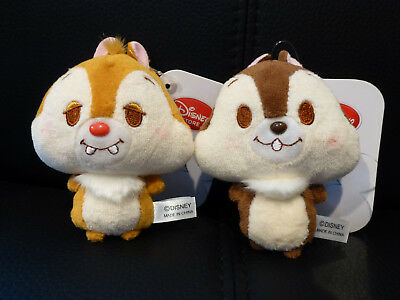 Authentic Japan Disney Store Exclusive 10cm Chip n Dale Plush Keychain NWT