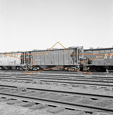 LV Lehigh Valley Covered Hooper Car 50727Poughk Original 120 Square B&W Negative