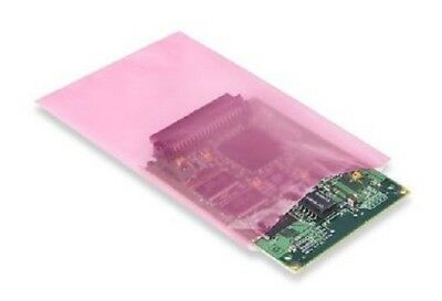 "4""x6"" Anti-Static Lay Flat Poly Bags Pink Hard Drives SSD Electronics 2 Mil PAS"