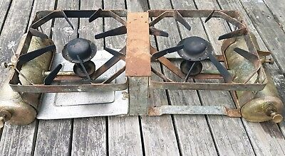 Vintage  Companion portable brass camp stove camping needs service