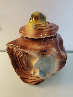 American Bisque Tortoise and the Hare Cookie Jar Flasher