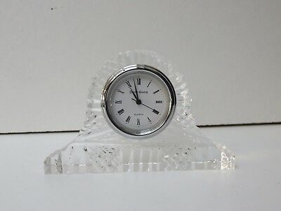 Beautiful Design Cut Glass Tyrone Crystal Table Clock