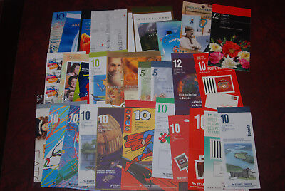 Canada MNH lot of different booklets up to $1.25, $150.26 Face value, postage #2