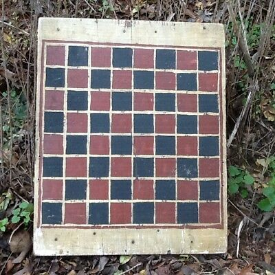 Early 1900's Gameboard Checkerboard original paint