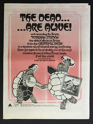 """Rare Original 1977 Promo Ad 12X16"""" Debut On Artists Records """"Terrapin Station"""""""