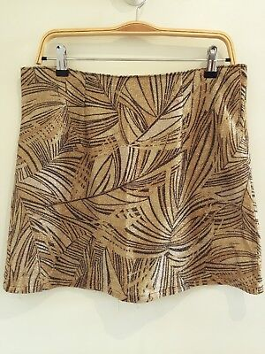 Vintage Gold Lurex Metallic Skirt, 10-12