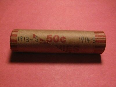 Sealed Wheat/indian Cent Penny Roll With 1913-S & 1914-S Ends