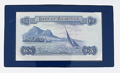 MAURITIUS -1967 -5 RUPEES - UNC  P30c - FANCY SN  BANKNOTES OF ALL NATIONS  7448