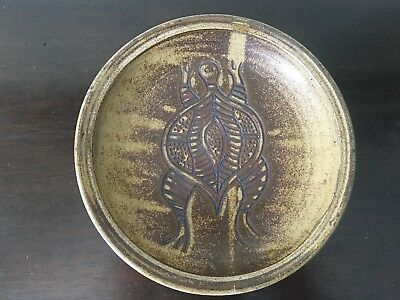 Signed YARRABAH POTTERY  Cornelius Richards Plate Bowl Turtle