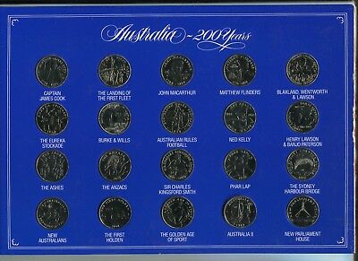 'australia 200 Years' A Specially Minted Commemorative Collection Of 20 Medals.