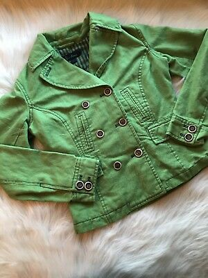 Boden Womens Lime Green Button Up Lined Casual Career Coat Jacket Size 8