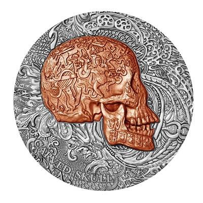 2017 Carved Skull High Relief Silver Coin - Cameroun 1000 Francs CFA