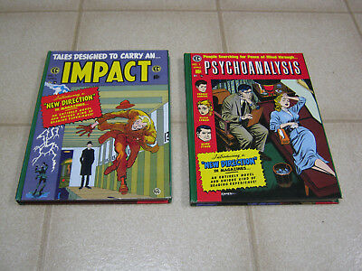 EC Comics Impact & Psychoanalysis Hardcovers, Russ Cochran Library reprints 1988