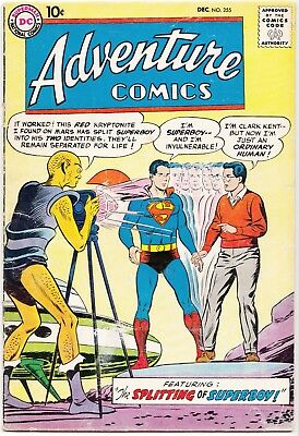 Silver Age DC SUPERBOY in ADVENTURE COMICS #255 1st REAL Red Kryptonite