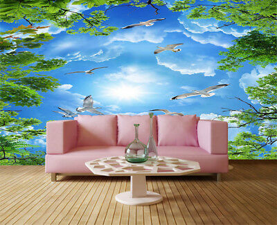 Neat Sunny Leaf 3D Full Wall Mural Photo Wallpaper Printing Home Kids Decor