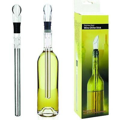 Stainless Steel Wine Chiller Stick with Wine Pourer in Gift Box. ZPCrafts