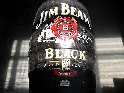 Authentic Jim Beam Painted Barrel