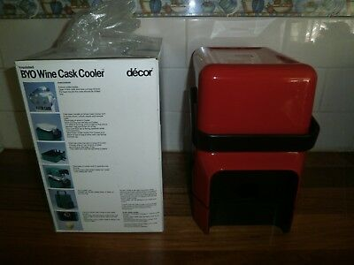 Decor Insulated Byo Wine Cask Cooler ~ Vintage Retro ~ Red