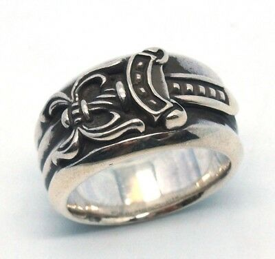 9fbd2c20ce3 AUTHENTIC CHROME HEARTS 925 Silver Dagger Ring Size  9.5 17041224CK ...