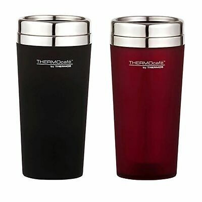 1d88caf36dc NEW THERMOS THERMOCAFE 420ml TRAVEL TUMBLER Coffee Tea Cup Car Camping RED  BLACK
