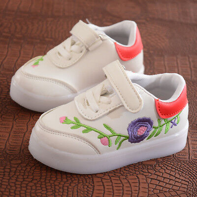 2018 Kids Lights Shoes Girls Sneakers Baby Toddler Children Sport Shoes Size