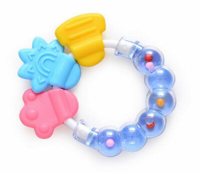 Toddler Baby Teeth Bite Ring Toy Newborn Baby Teeth Chew Bells Silicone Toys