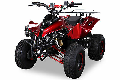 MIDI Kinder Quad S-10 Elektro 1000 Watt ATV Kinderquad Metallic-Rot
