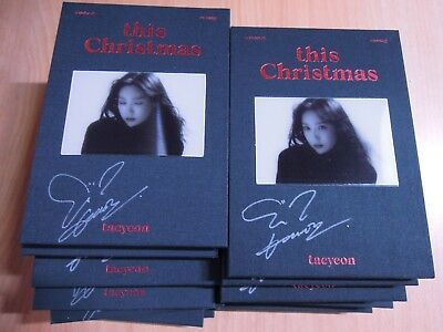 Taeyeon - this Christmas (Promo) with Autographed (Signed)