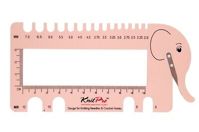 Knit Pro Pink Elephant View Sizer, Gauge and Cutter