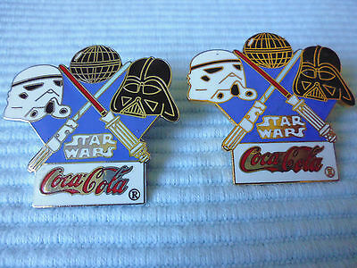 2 COCA COLA  STAR WARS Pins