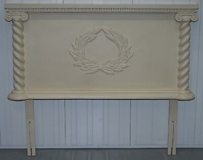 Vintage French Country Shabby Chic Style Double Bed Headboard Part Of Suite